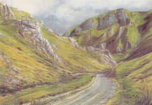 Postcard Art Winnats Pass, Castleton, Derbyshire by Sue Firth Large 170x120mm