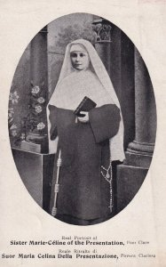 Real Portrait of Sister Marie-Celine of the Presentation, Poor Claire, 1900-10s