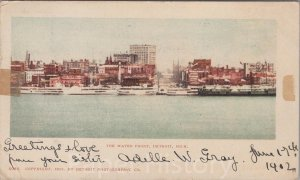 1902 The Water Front, Detroit Michigan Private Mailing Card