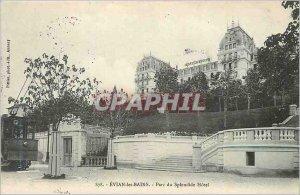 Old Postcard Evian les Bains Splendid Hotel Park
