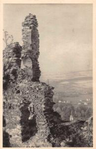 Czech Slovakia Potstejna Castle Ruins Scenic View Antique Postcard J77521
