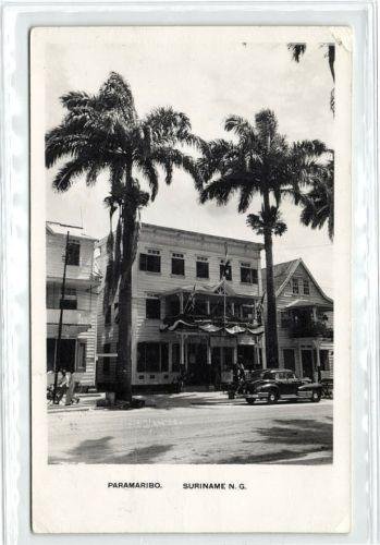 suriname, PARAMARIBO, Shop C.R. Singh (1950s) RPPC