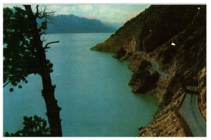 BUFFALO BILL RESERVOIR WYOMING-POST CARD-COLOR-1960'S-OLD STOCK