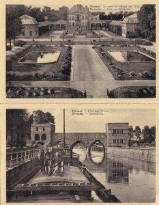 Tournai Hotel De Ville Pont Des Trous 2x Real Photo Old Dutch Postcard s