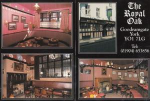 The Royal Oak Goodramgate York Restaurant Advertising Postcard