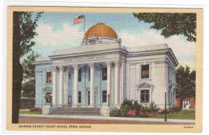 Court House Reno Nevada linen postcard