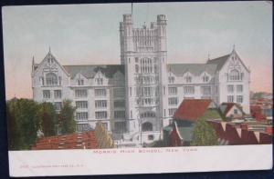 Morris High School Bronx NYC NY Illustrated Post Card Co 1957 UDB Unposted