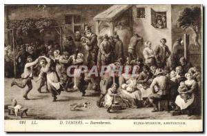 Postcard Old Teniers Boerenkermis