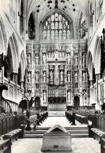 Vintage Real Photo Postcard, Winchester Cathedral, The Presbytery 84Y