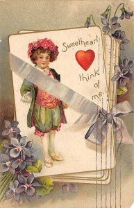 Sweetheart think of me. Artist Ellen Clapsaddle Puzzle 1908