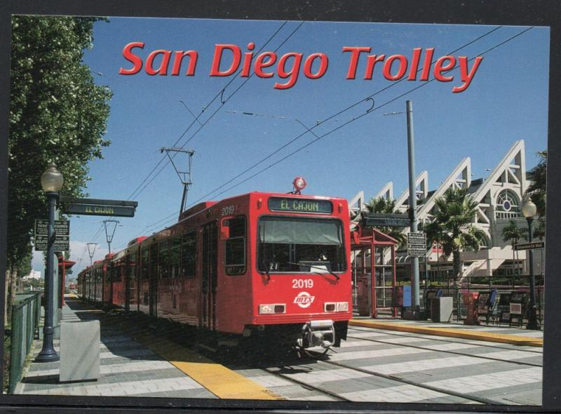 Colour PC  San Diego Trolley at Convention Center unused