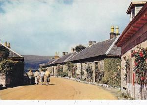 Scotland Dunbartonshire Loch Lomond Luss Village Street Scene