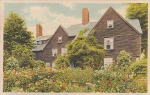 Massachusetts Salem Garden View The House Of Seven Gables