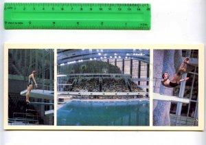 228793 USSR Moscow XXII Olympic champions diving KALININA & PORTNOV postcard