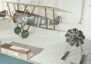 Sopwith F1 Camel Military Museum Exhibit War Plane Postcard