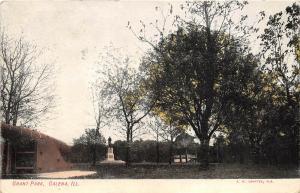 Galena Illinois 1908 Postcard Grant Park