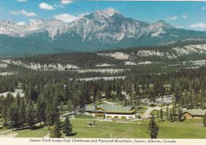 Jasper Park Lodge Golf Clubhouse And Pyramid Mountain, JASPER, Alberta, Canad...