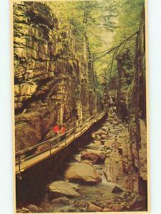 Vintage Postcard Fume Gorge Franconia Notch White Mountain New Hampshire # 932