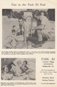 HODGENVILLE , Kentucky, 1940-50s ; PARK 84 Vacation Village, Swimming Pool