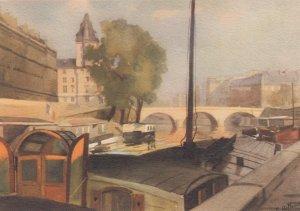 PARIS , France, 1920-30s; Les quais et le Pont au Change