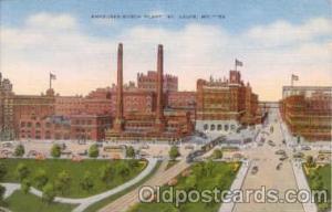 Budweiser, Anheuser Busch, St. Louis, Mo. USA Brewery Postcard Post Card  Anh...