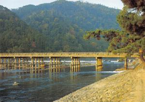 Japan Postcard, Bridge at Arashiyama, Kyoto Q74