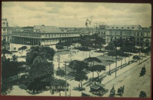 R052521 VINTAGE HABANA HAVANA CUBA POSTCARD BEV OF CENTRAL PARK 1913