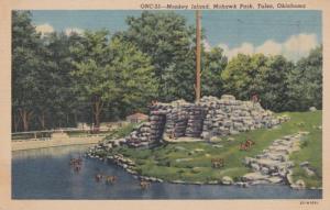 Oklahoma Tulsa Monkey Island Mohawk Park Curteich