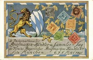 germany, MÜNCHEN MUNICH, 2nd International Stamp Fair (1921) Postcard
