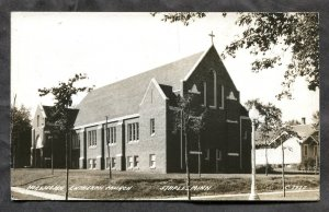 dc108 - STAPLES Minn 1940s Norwegian Lutheran Church Real Photo Postcard