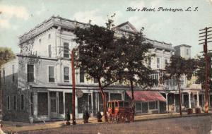 Patchogue Long Island New York~Roe's Hotel~Cumberland Stage Coach~1910 Postcard