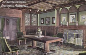 Interior, Red Room Riverton Casino, Portland, Maine,  PU-1905