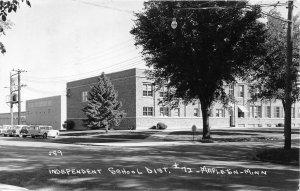 H37/ Mapleton Minnesota RPPC Postcard 1965 Independent School District #72