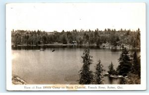 *Pine Beach Camp North Channel French River Rutter Ontario Vintage Postcard C85