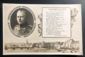 Mint Germany Picture Postcard PPC Infantry General Emmich Memorial