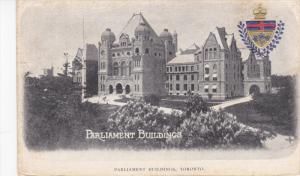 TORONTO, Ontario, Cnanda; Parliament Buildings, Coat of Arms, 00-10s