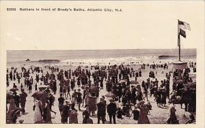 New Jersey Atlantic City Bathers In Front Of Brady's Baths