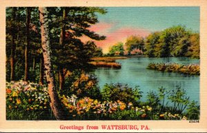 Pennsylvania Greetings From Wattsburg