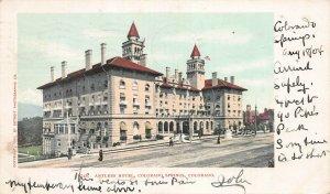 Antlers Hotel, Colorado Springs, Colorado, Undivided back, Used in 1904