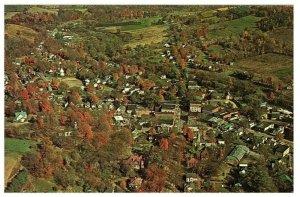 Aerial View Endless Mountains Route 6 & 14 North Eastern Pennsylvania Postcard