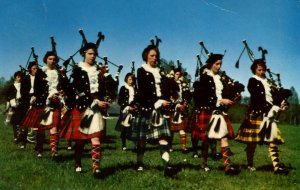 Canada - Nova Scotia, New Glasgow. Girls' Highland Pipe Band