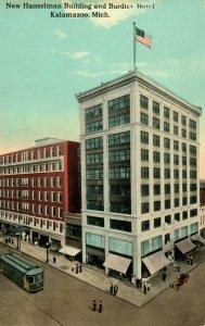 Circa 1910 New Hanselman Building Burdick Hotel, Kalamazoo, Michigan Vintage P12
