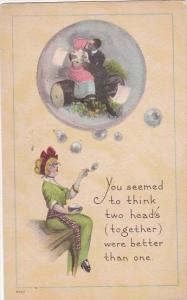 Romantic Couple In A Bubble You Seemed To Think Two Heads Together Were Bette...