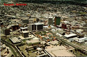 Arizona Tucson Downtown Aerial View With La Placita Plaza and New Civic Center