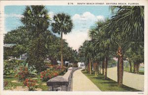 South Beach Street Daytona Florida 1928 Curteich