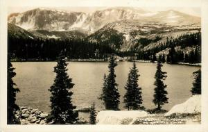 O'Neill RPPC Postcard B-3 Lakeshore & Mountain Side, Big Horn Mts. WY Unposted
