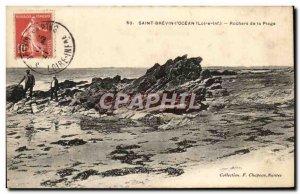 Postcard Old Saint Brevin L Ocean Rocks Beach