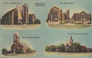 4-Views, Amarillo Churches, Amarillo, Texas, 1930-1940s