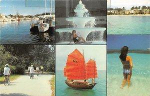 Nassau in the Bahamas Post card Old Vintage Antique Postcard Grand Bahama Hot...