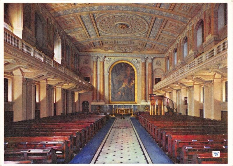 Postcard The Chapel Royal Naval College Greenwich LONDON by Walter Scott
